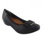 Sapato Feminino Usaflex Salto Baixo Tecido Detalhe