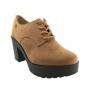 Sapato Oxford Feminino Moleca Solado Tratorado Salto Alto