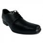 Sapato Social Masculino Preto Scarpazzi Couro com Cadarço