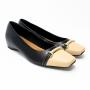 Sapato Usaflex Feminino Salto Baixo Couro Confortável