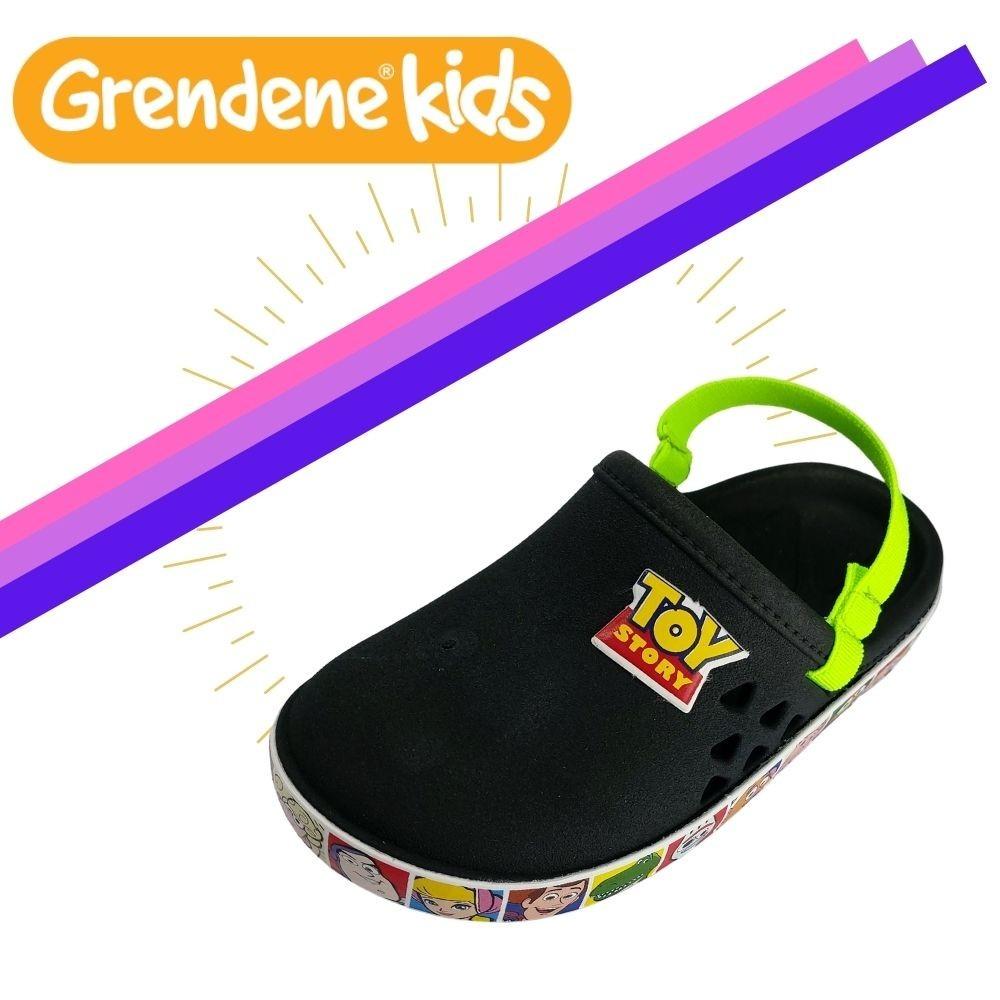 Babuche Crocs Infantil Toy Story e Frozen Original Grendene - Preto - 21