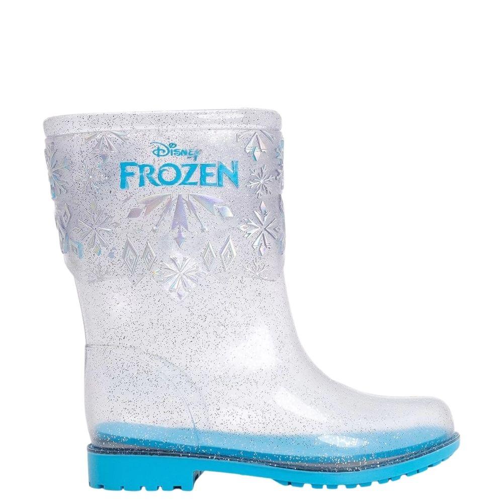 Bota Galocha Feminina Infantil Frozen Brilhos Menina
