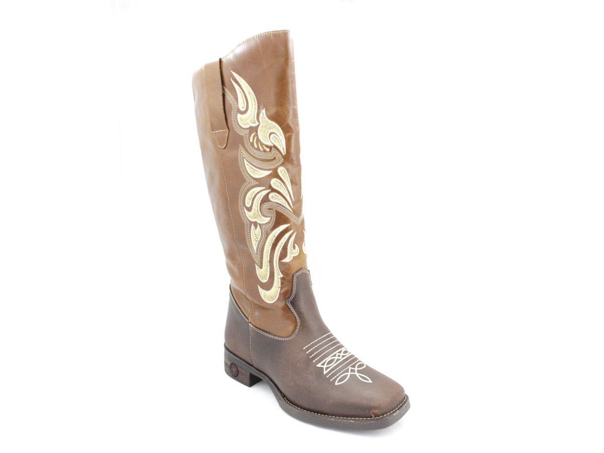 Bota Texana Country Cano Longo Feminina Vilela