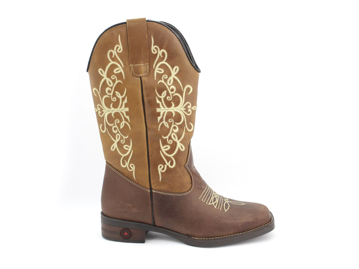 Bota Texana Country Feminina Confortavel Original Vilela
