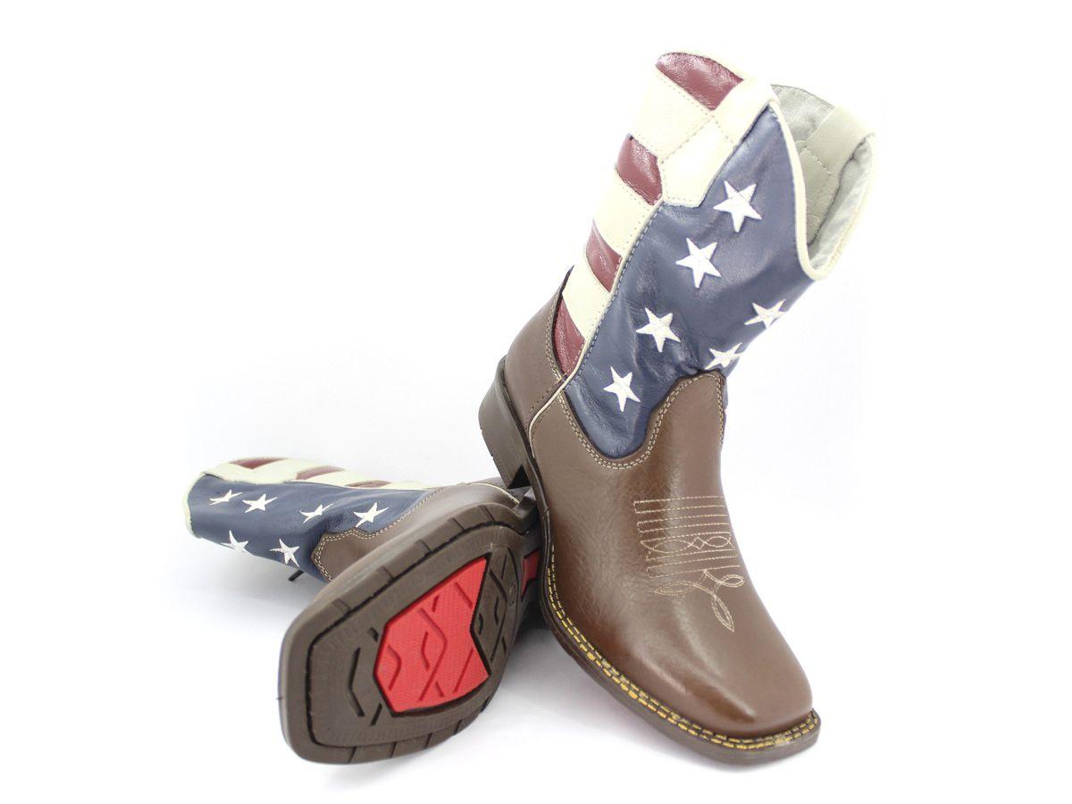 Bota Texana Country Masculina Confortavel Original Vilela