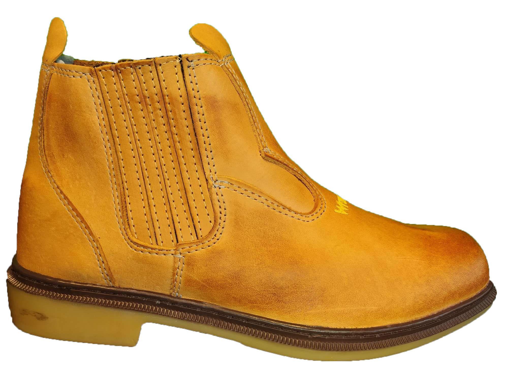 Botina Masculina Country Couro amarela