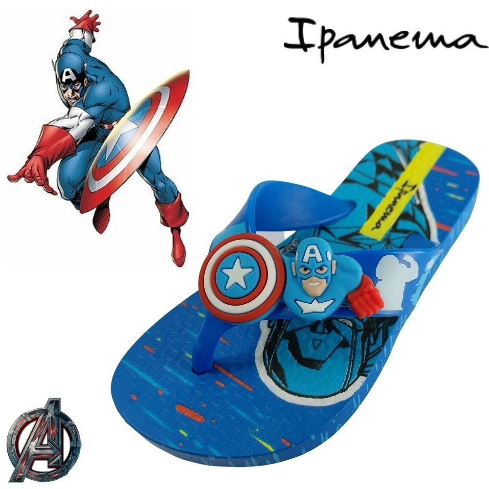 Chinelo Infantil Masculino Menino Avengers Capitão America