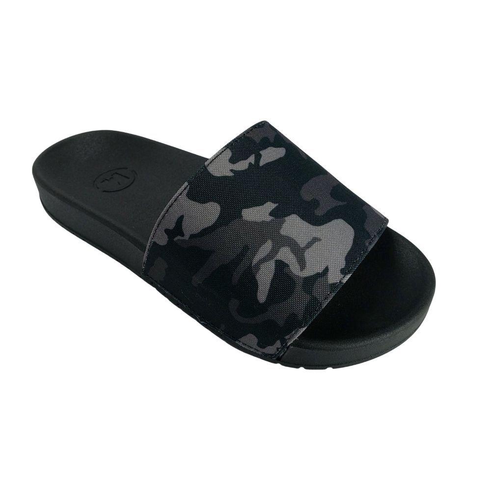 Chinelo Infantil Masculino Slide Camuflado Militar Molekinho