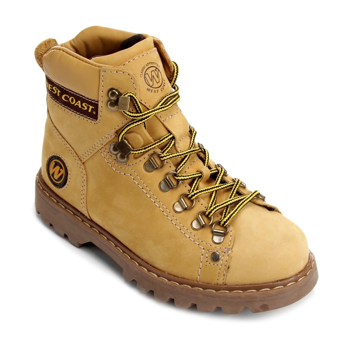 Coturno Masculino Adventure West Coast Amarelo Adulto