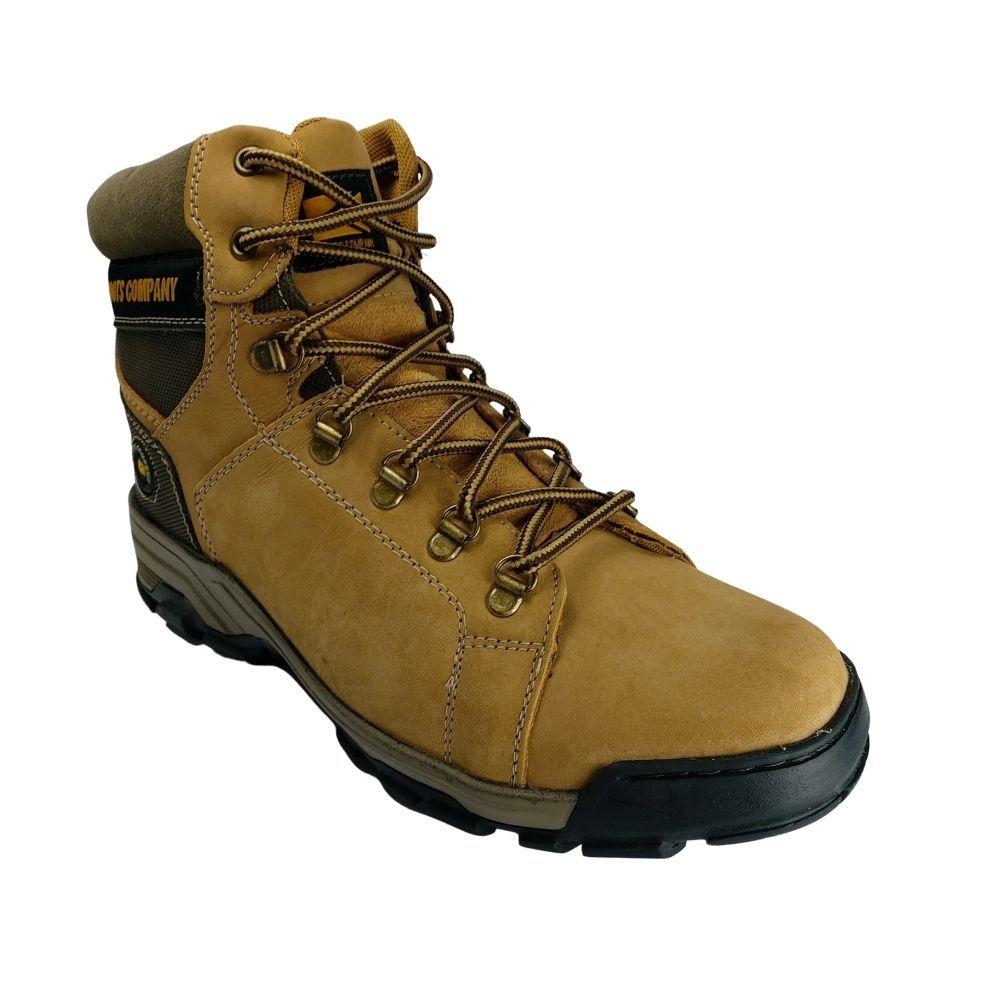 Coturno Masculino De Couro Boots Company Casual Cano Medio