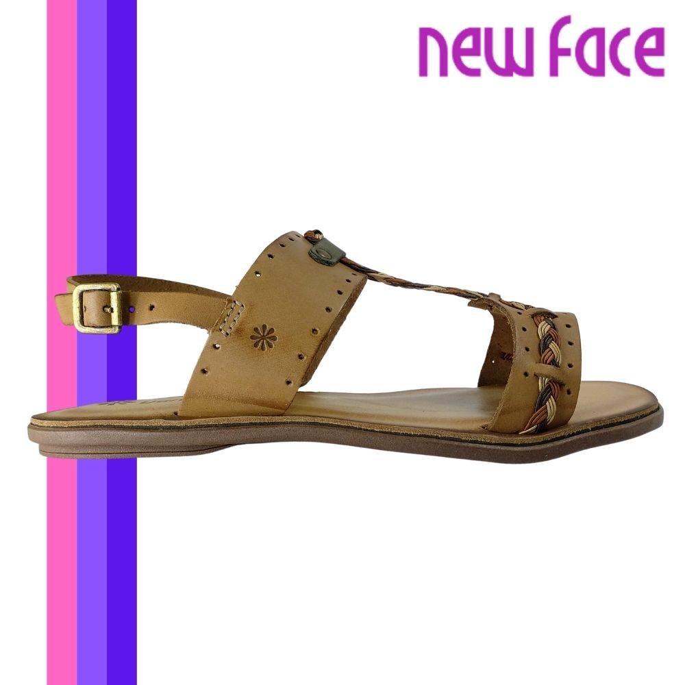Sandalia Feminina Couro Confortavel New Face