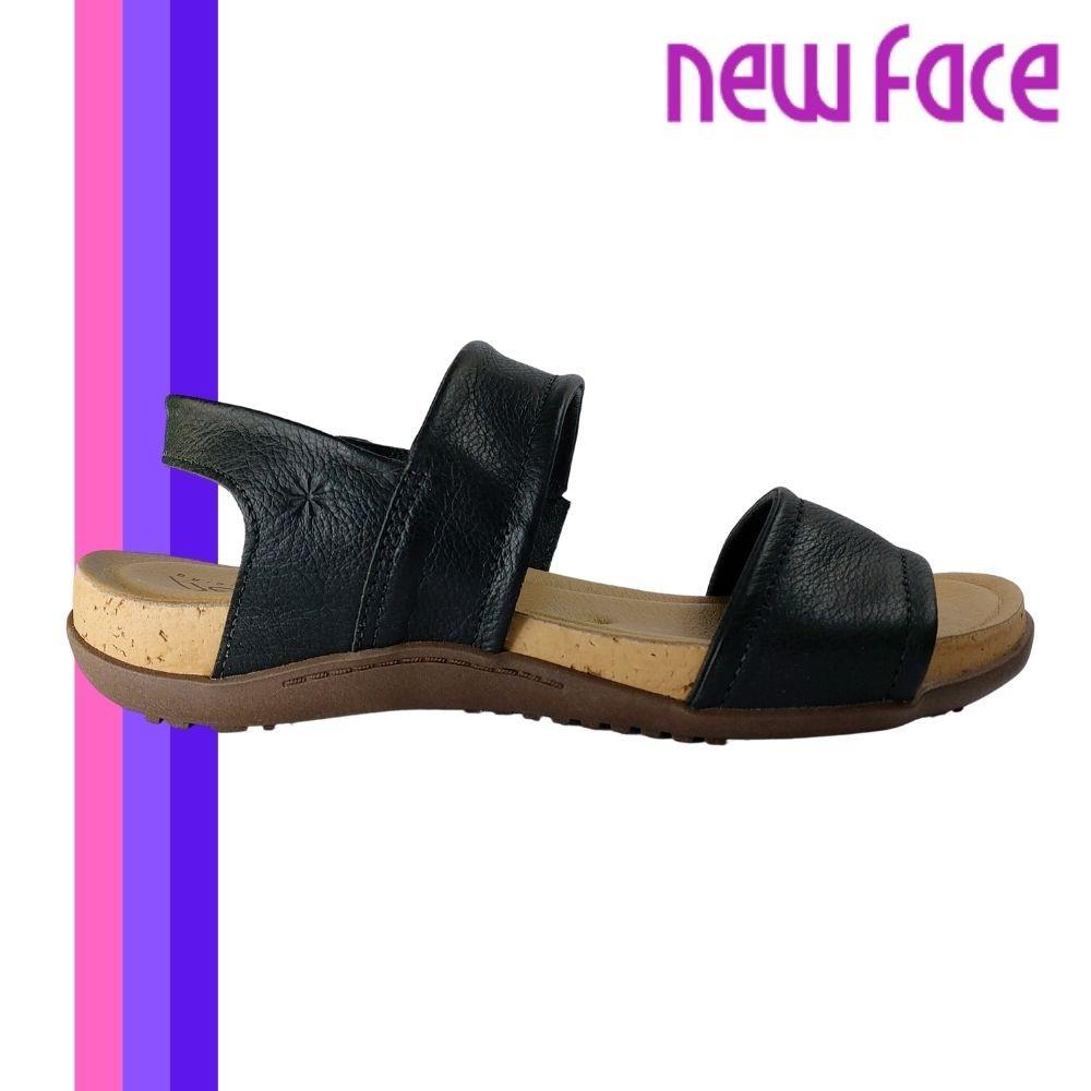 Sandalia Feminina Papete Couro Confortavel  New Face