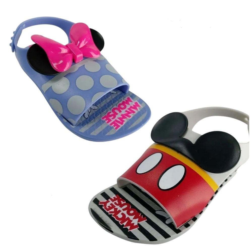 Sandalia Infantil Bebe Disney Mickey Minnie