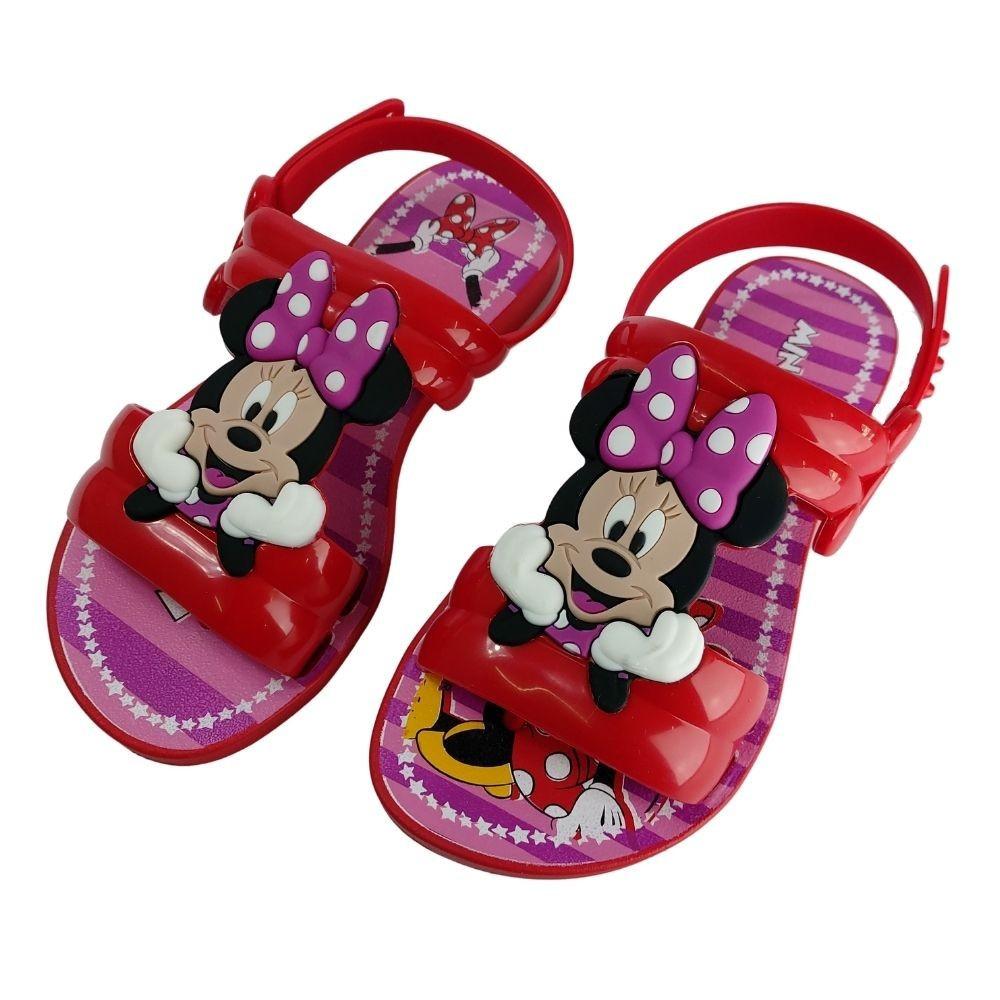 Sandalia Infantil Feminina Disney Minnie Menina Brinde