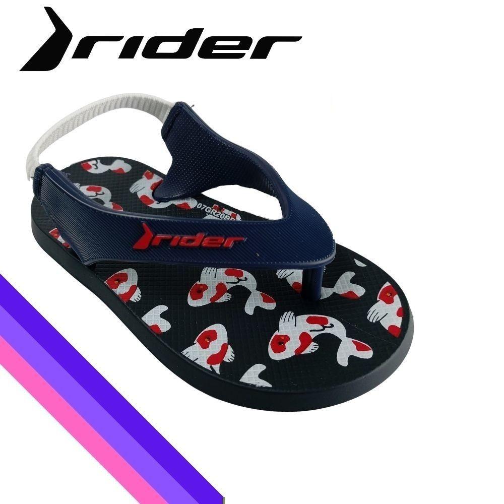 Sandalia Infantil Masculina Rider Menino Papete Elastico