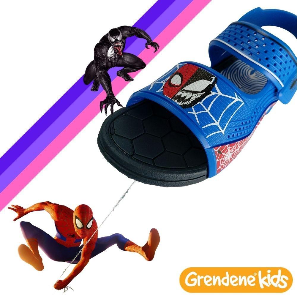 Sandalia Papete Masculina Infantil Homem Aranha Kids