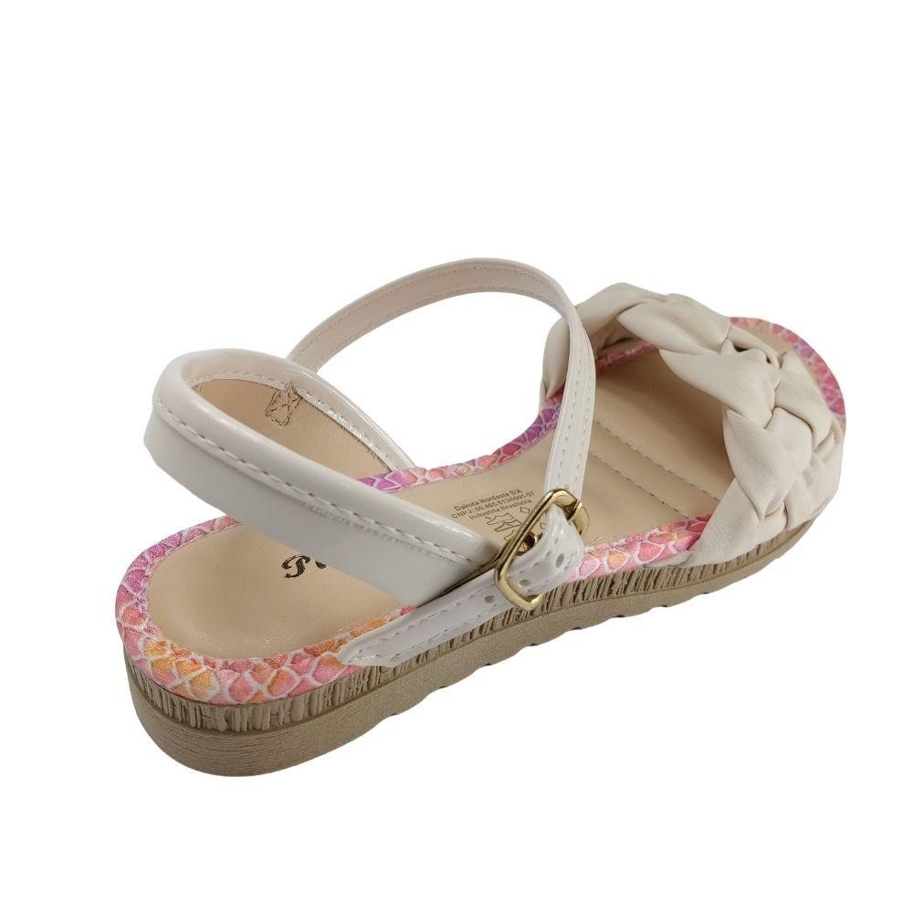 Sandália Pink Cats Infantil Feminina Menina Delicada - Nude