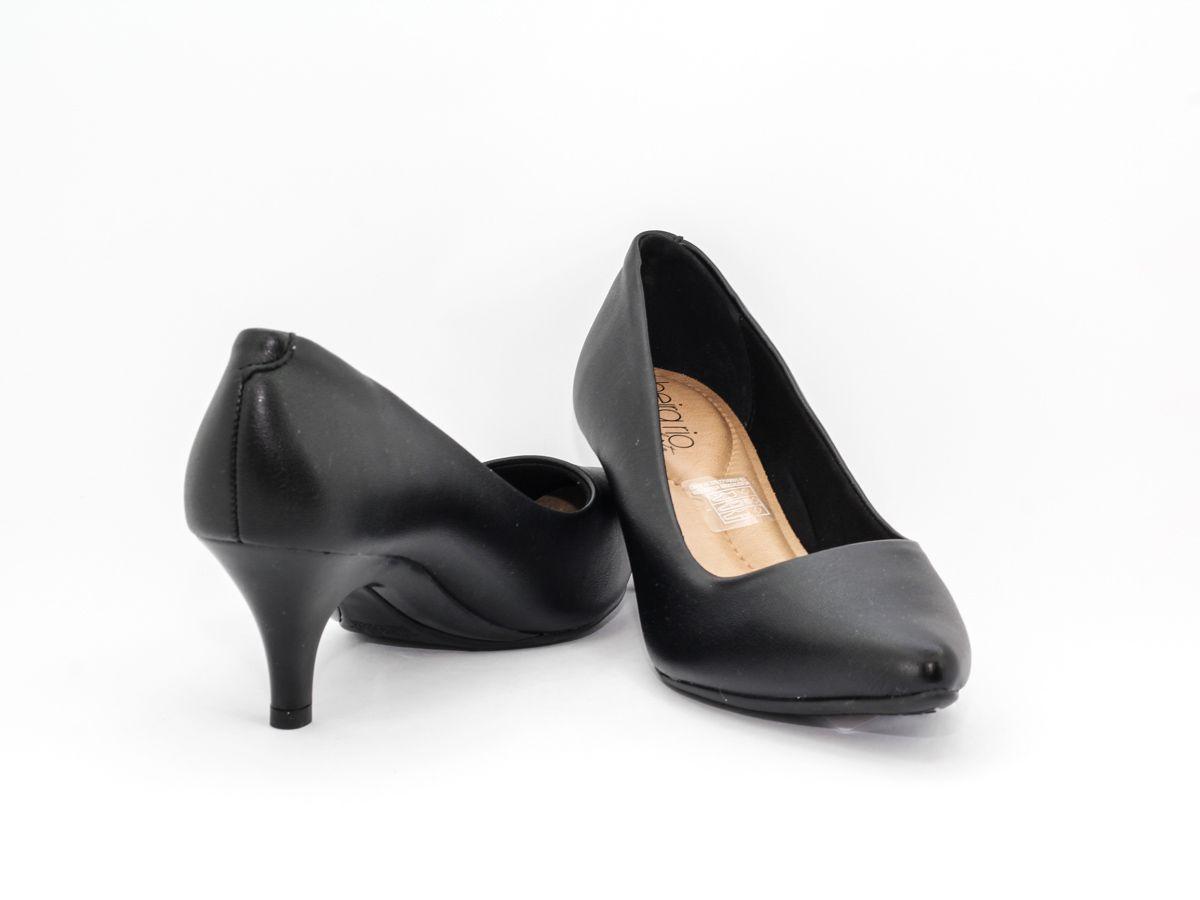 Sapato Feminino Scarpin Beira Rio Salto Baixo