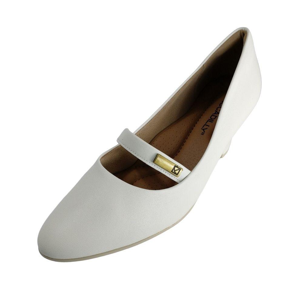 Sapato Boneca Feminino Piccadilly Branco Confortavel
