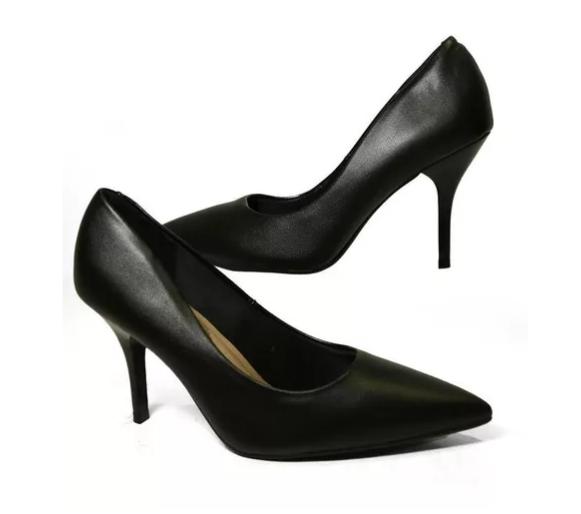 Sapato Feminino Bico Fino Salto Medio Beira Rio Couro