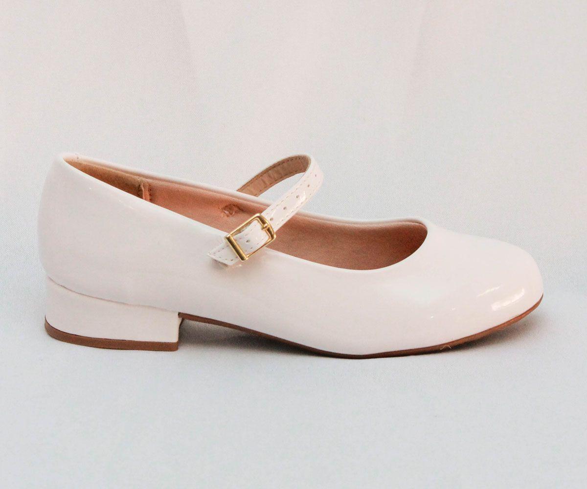 Sapato feminino boneca delicado Molekinha - Branco - 27