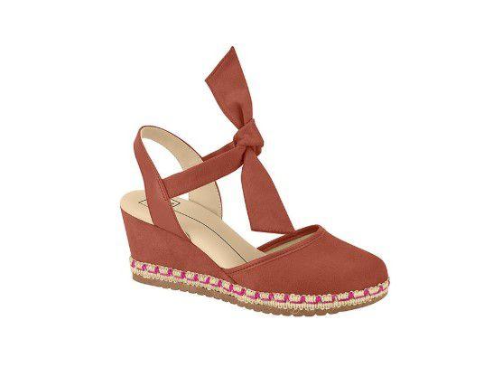 Sapato Feminino Espadrille Moleca Camurça