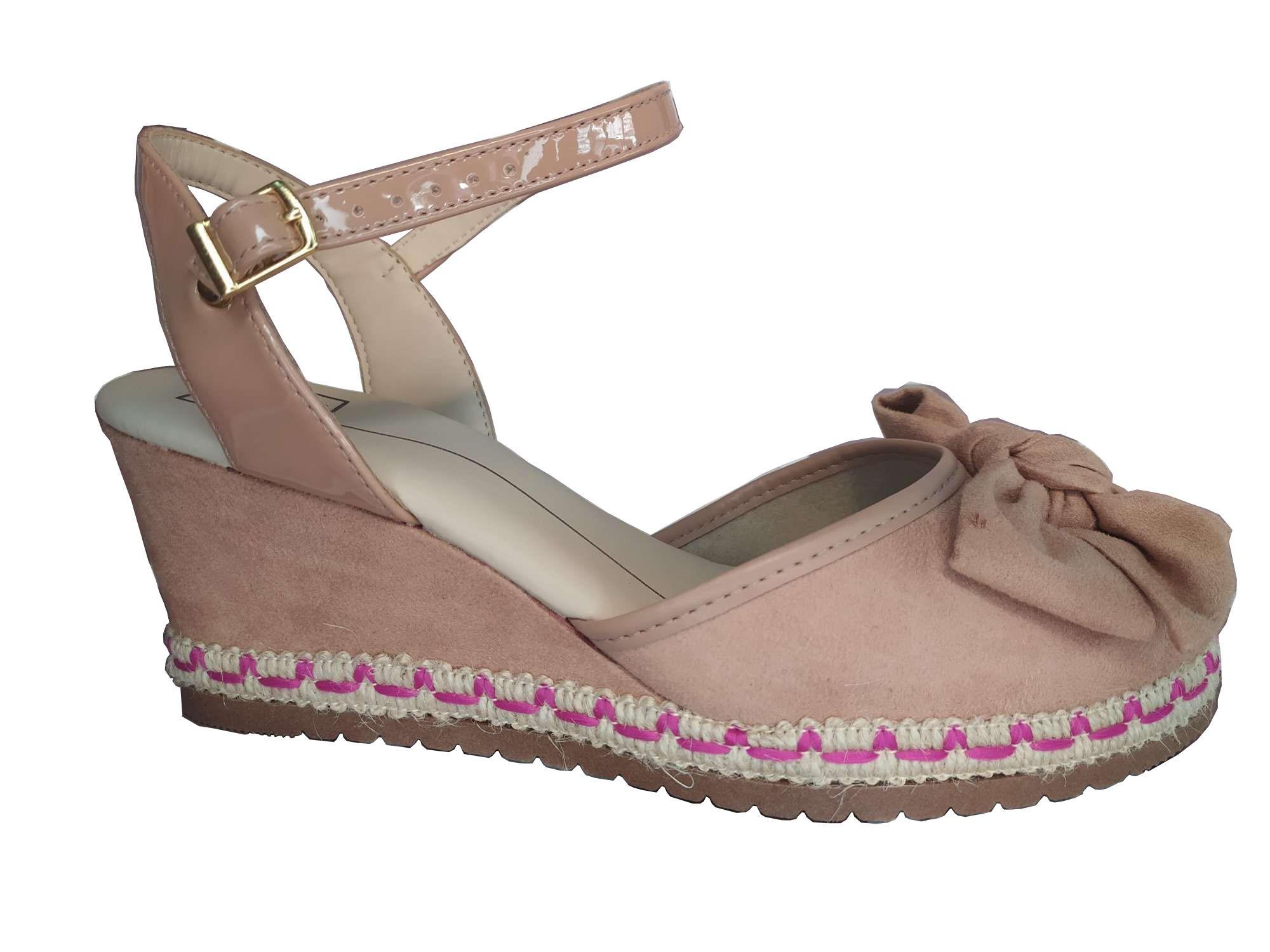 Sapato Feminino Espadrille Moleca Detalhe Laço