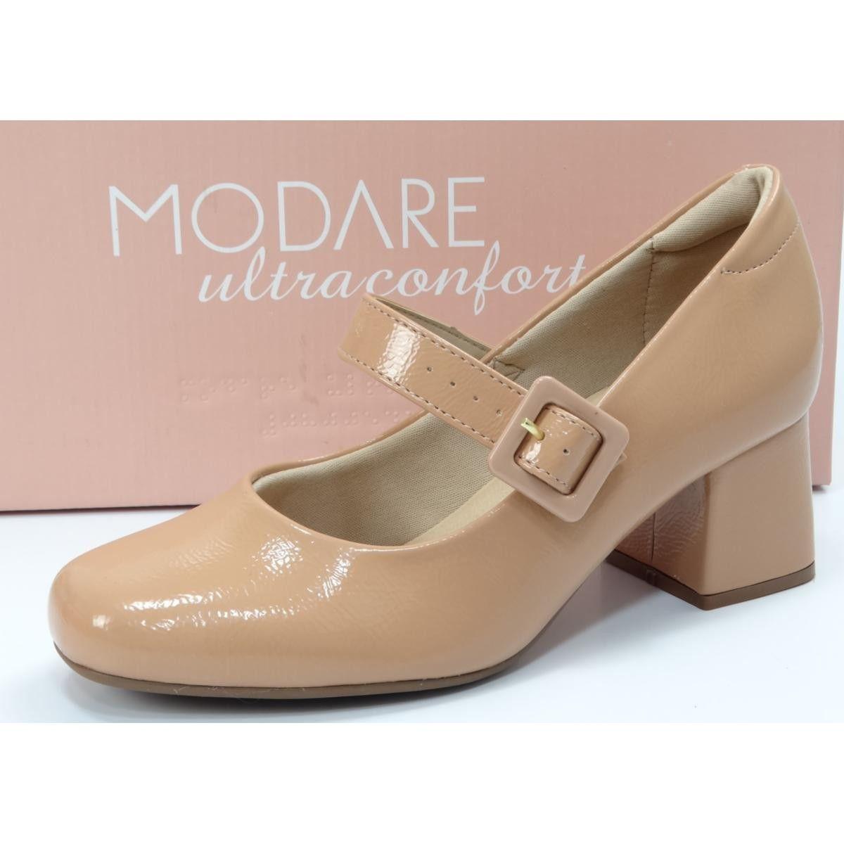 Sapato Feminino Modare Boneca Salto Medio Quadrado