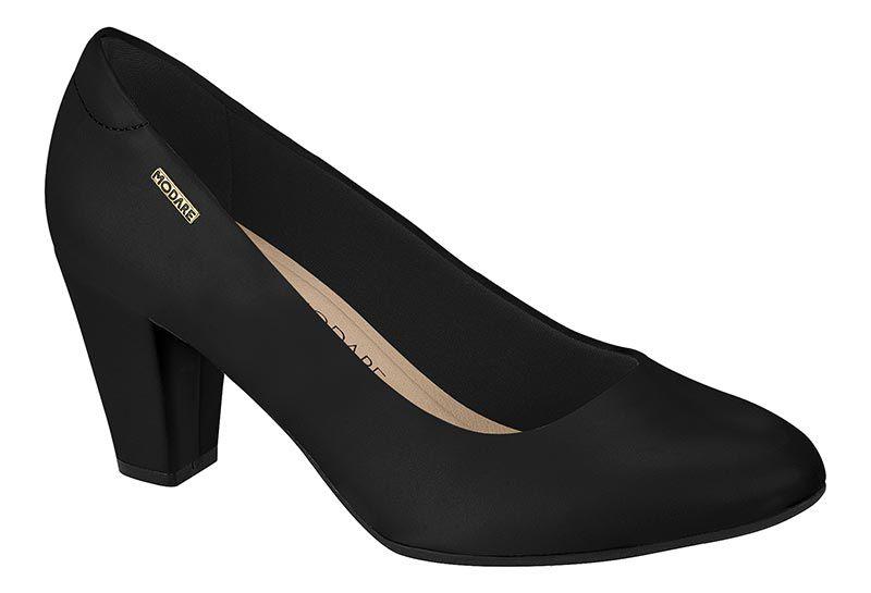 Sapato Feminino Scarpin Conforto Salto Alto Modare