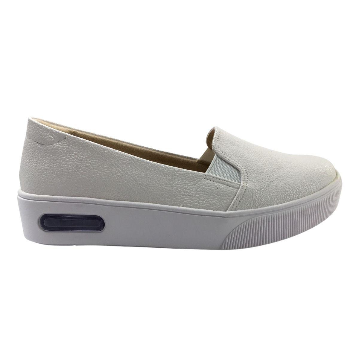 Sapato Feminino Modare Slip On Confortável Couro Anatômico