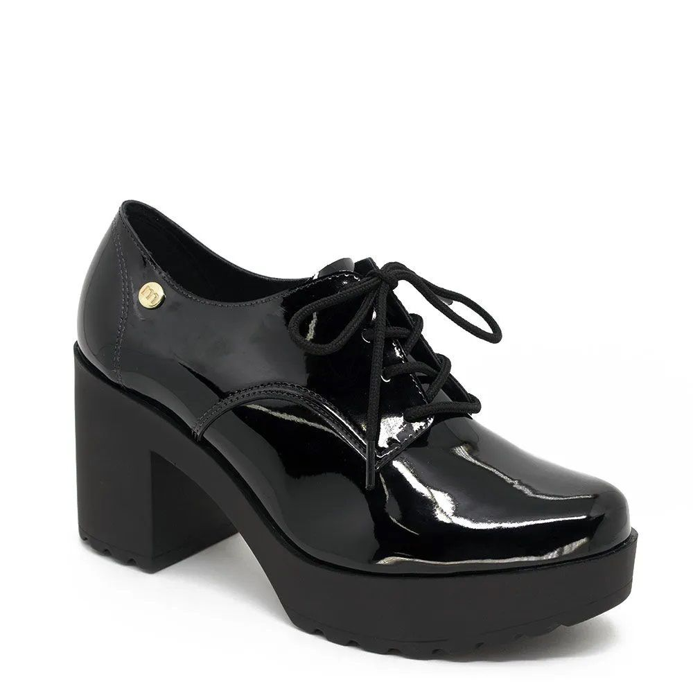 Sapato Feminino Moleca Solado Tratorado Alto