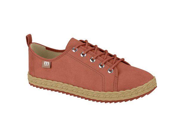 Sapato Feminino Oxford Moleca Estiloso Camurça