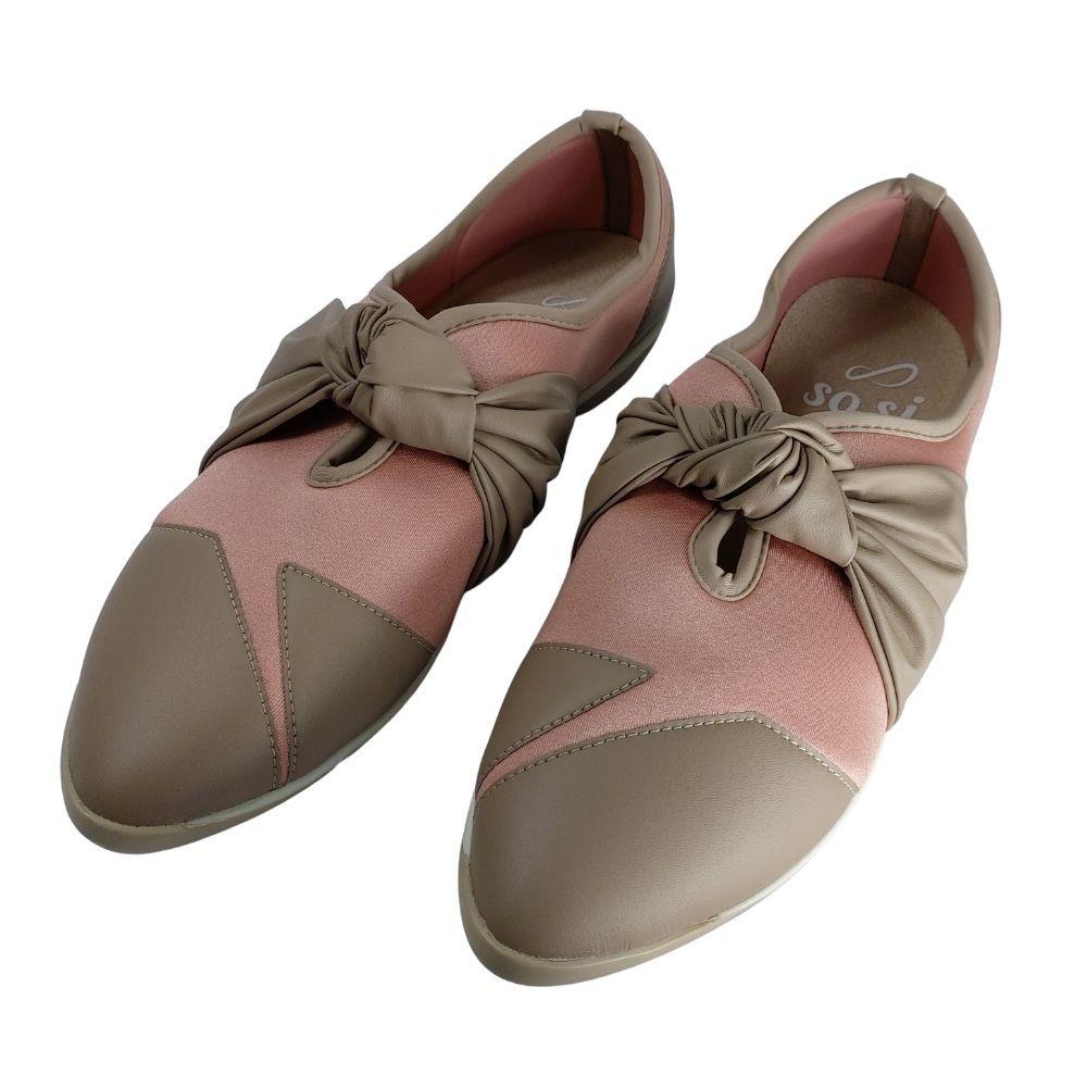 Sapato Feminino Piccadilly Conforto Esporão Com Laço