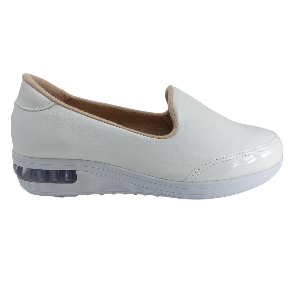 Sapato Modare Feminino Anatômico Conforto Amortecedor - Branco