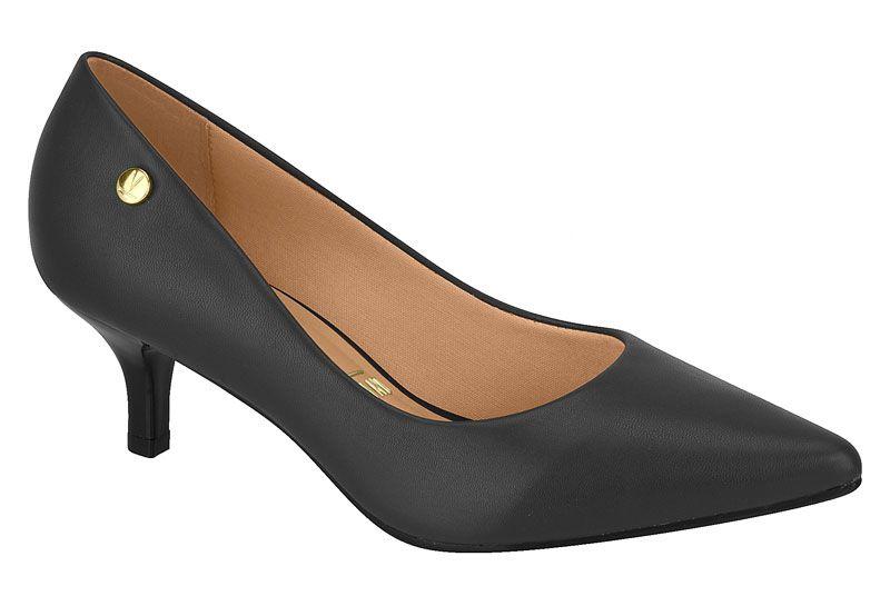 Sapato Salto Baixo Bico Fino Verniz Vizzano