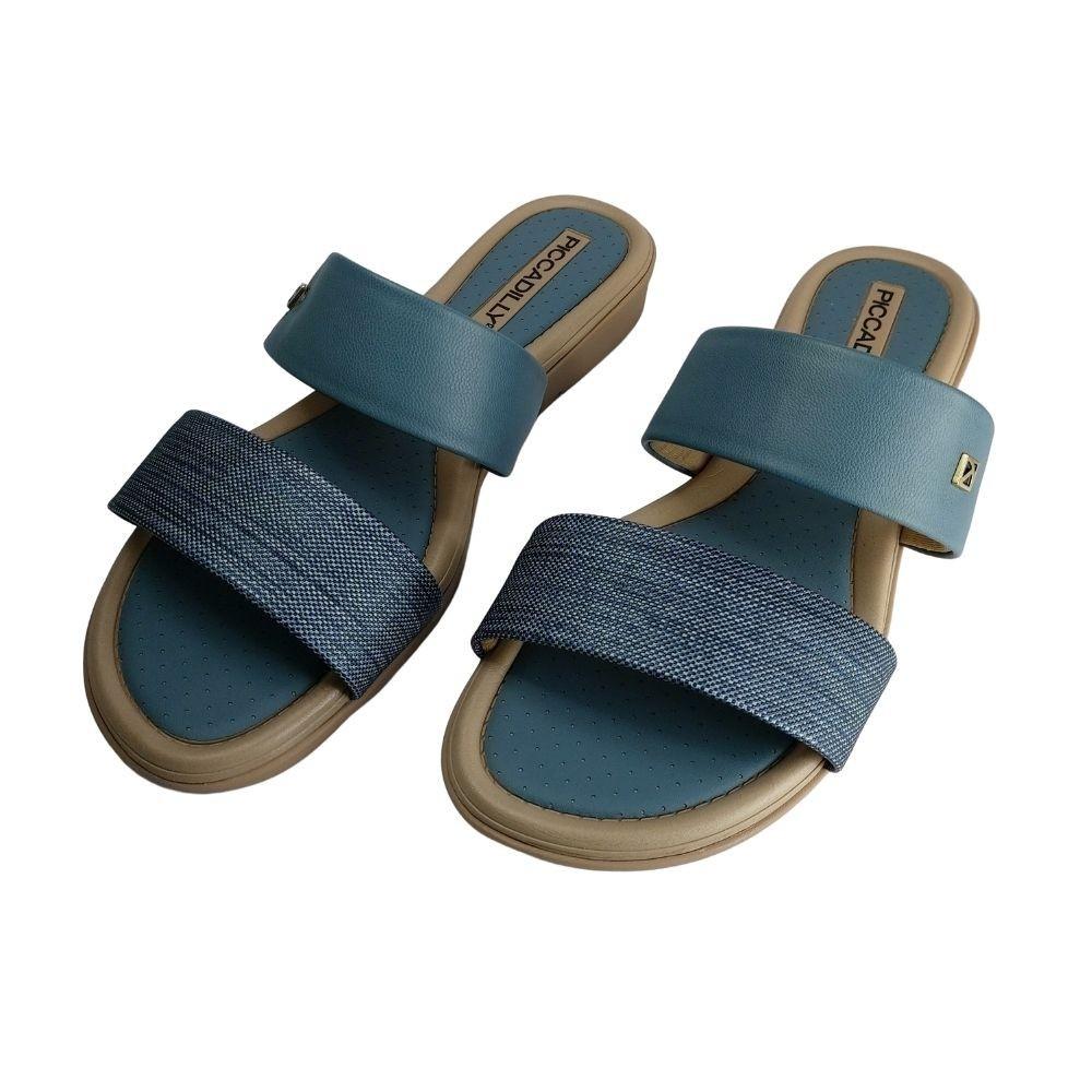 Tamanco Jeans Birken Piccadilly Confortavel Salto Baixo
