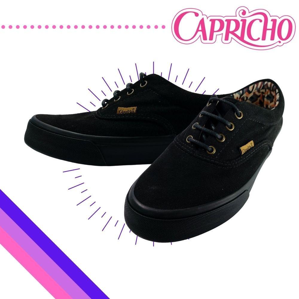 Tenis Casual Feminino Capricho Preto Cp0386