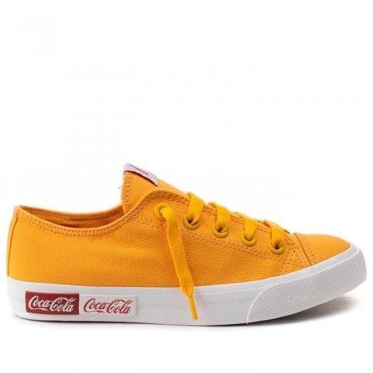 Tenis Feminino Coca Cola Casual Baixo Amarelo