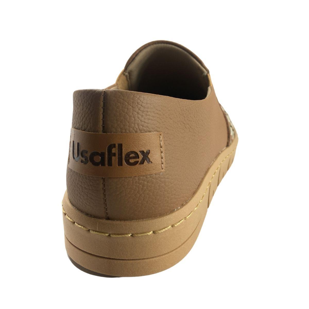 Tenis Meias Feminino Casual Usaflex Reflax Confort Slip On