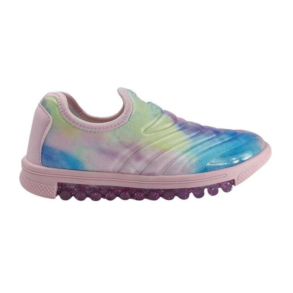 Tênis Infantil Feminino Bibi Roller New Slip On - Tye Dye
