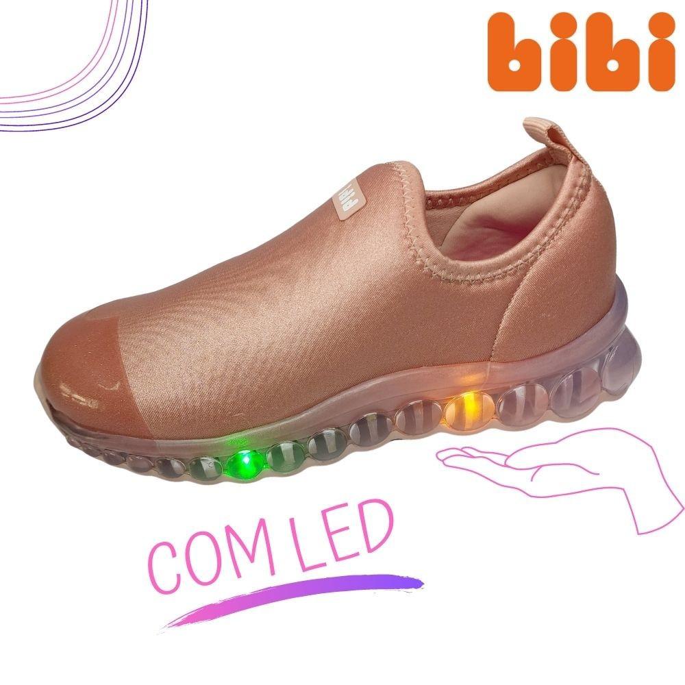 Tenis Infantil Feminino de Luz Bibi Roller Led Colorido