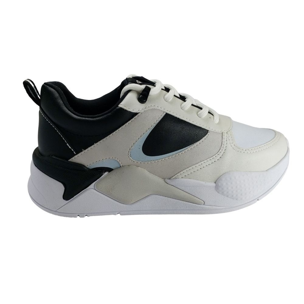 Tênis Ramarim Chunky Sneaker Feminino - Branco e Preto