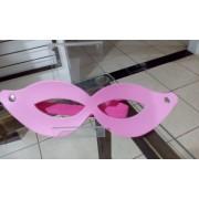 Máscara Tiazinha Couro Rosa