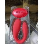 Vibrador de Casal Body Safe Vermelho 10 x