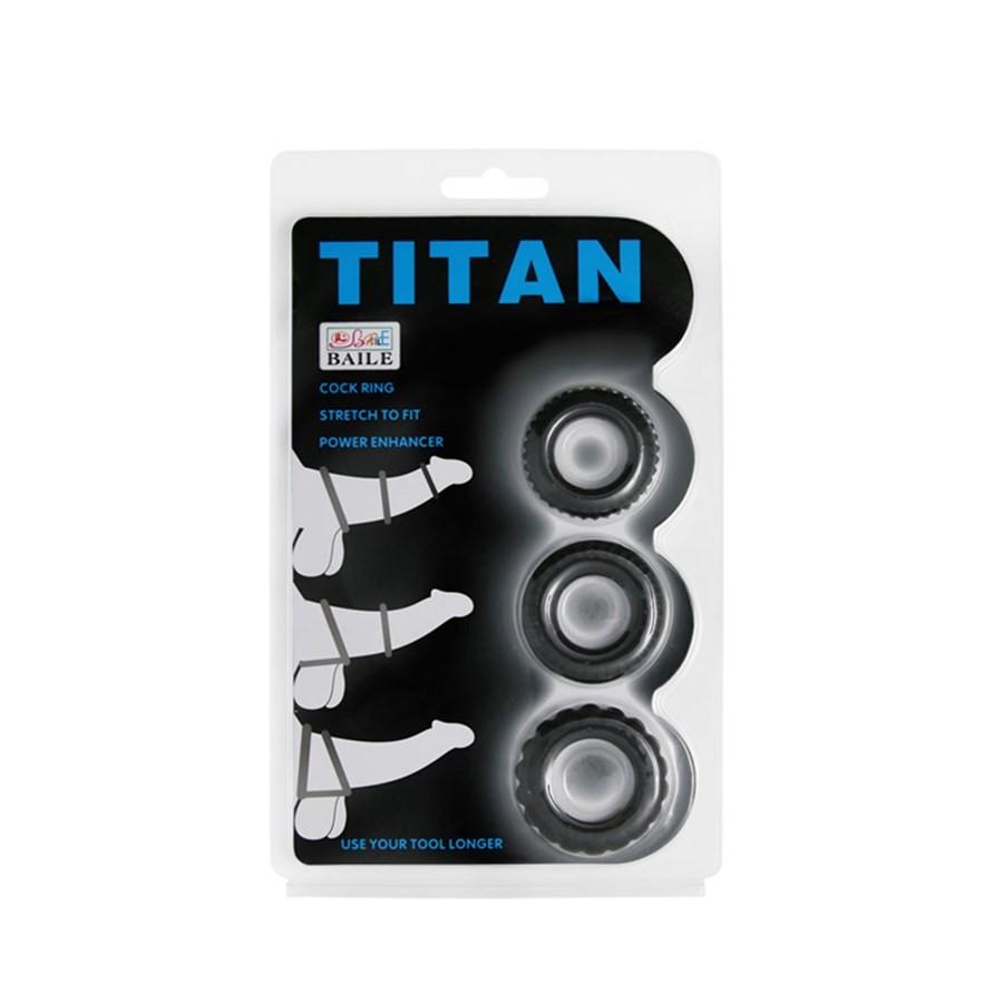Anel Peniano Titan Kit com 3 peças