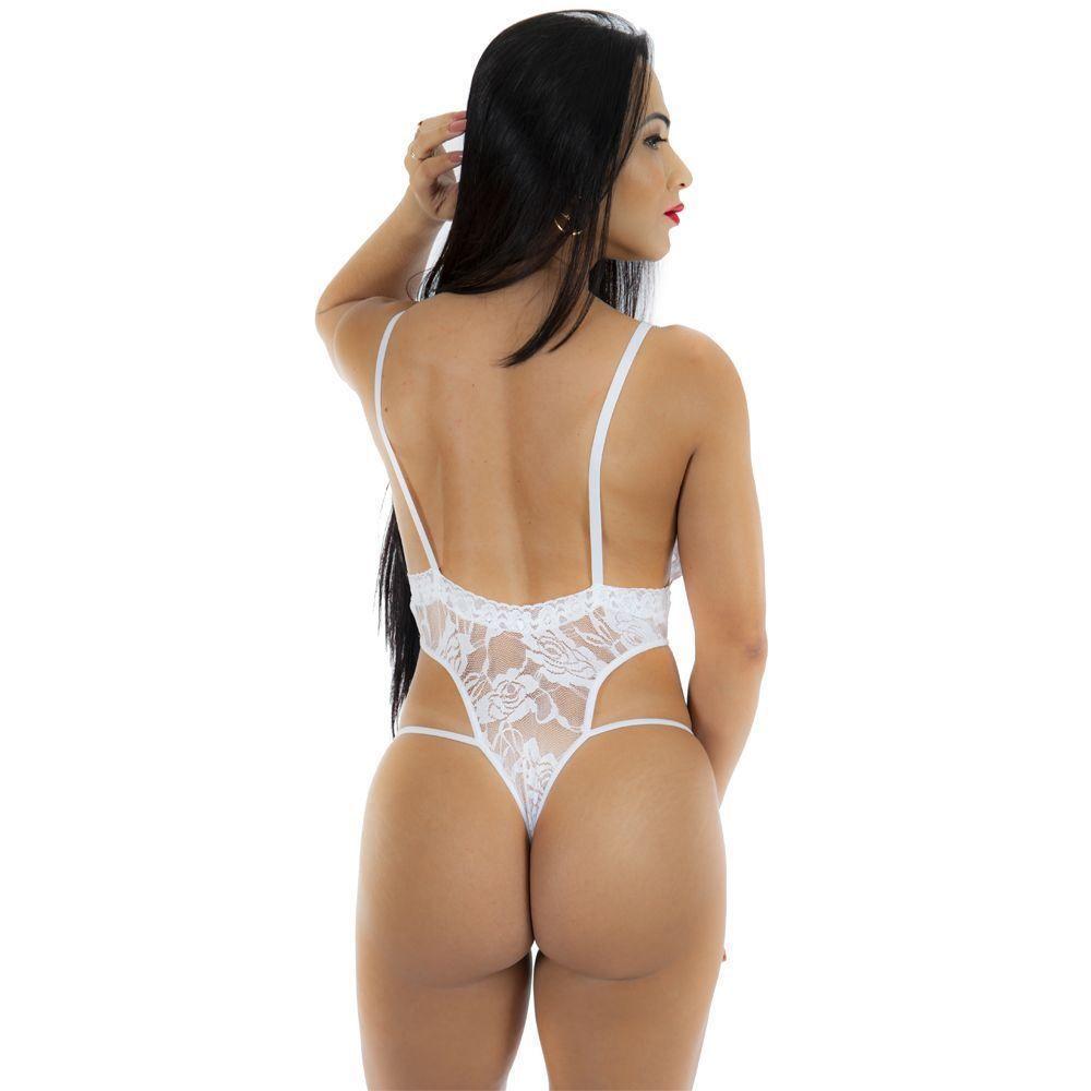 Body Renda Deliciosa P Sexy Branco