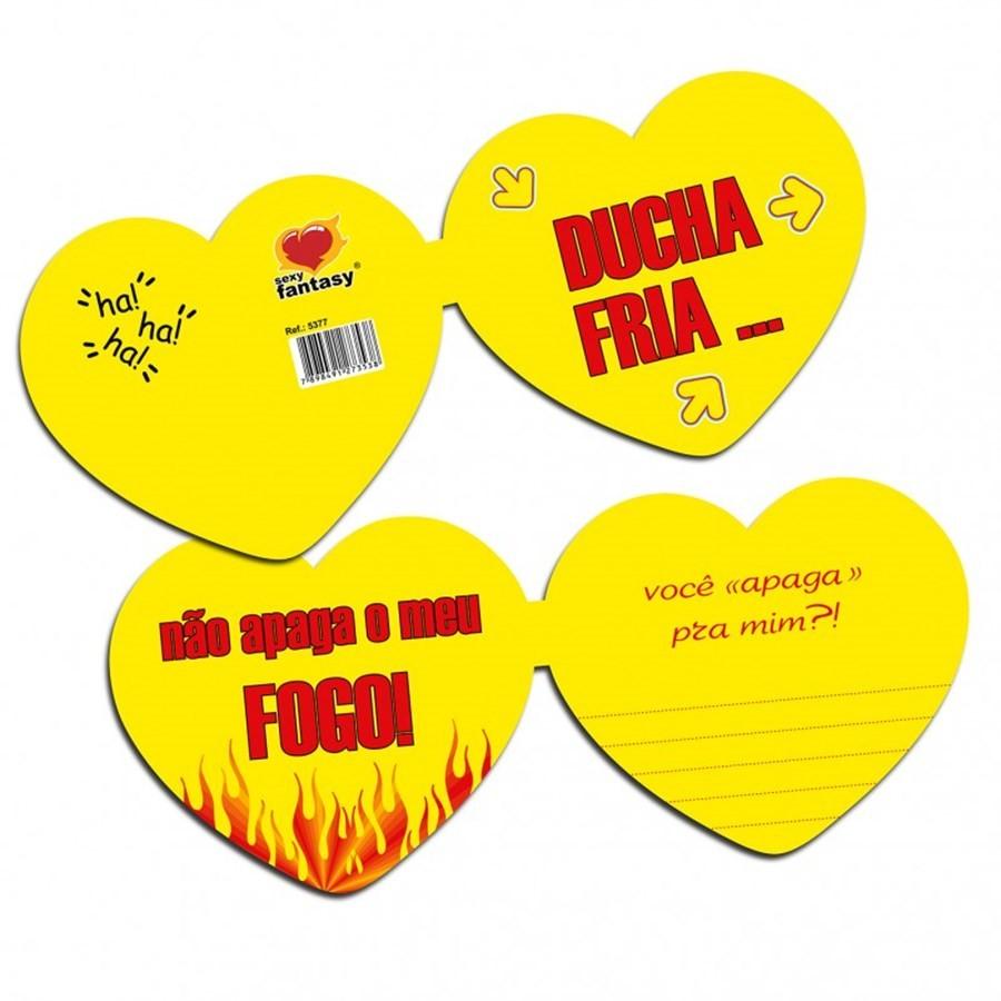 """Cartão Divertido """"Ducha fria não apaga meu fogo"""""""