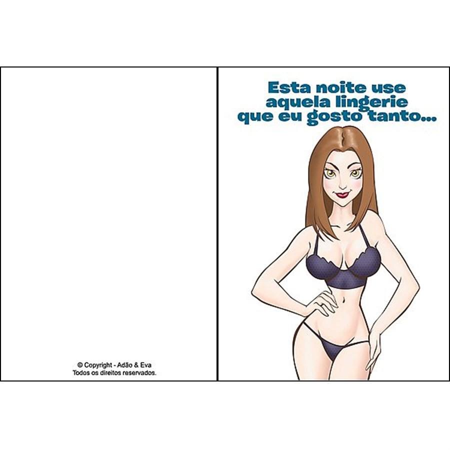 """Cartão Divertido """"Esta noite use aquela lingerie"""""""