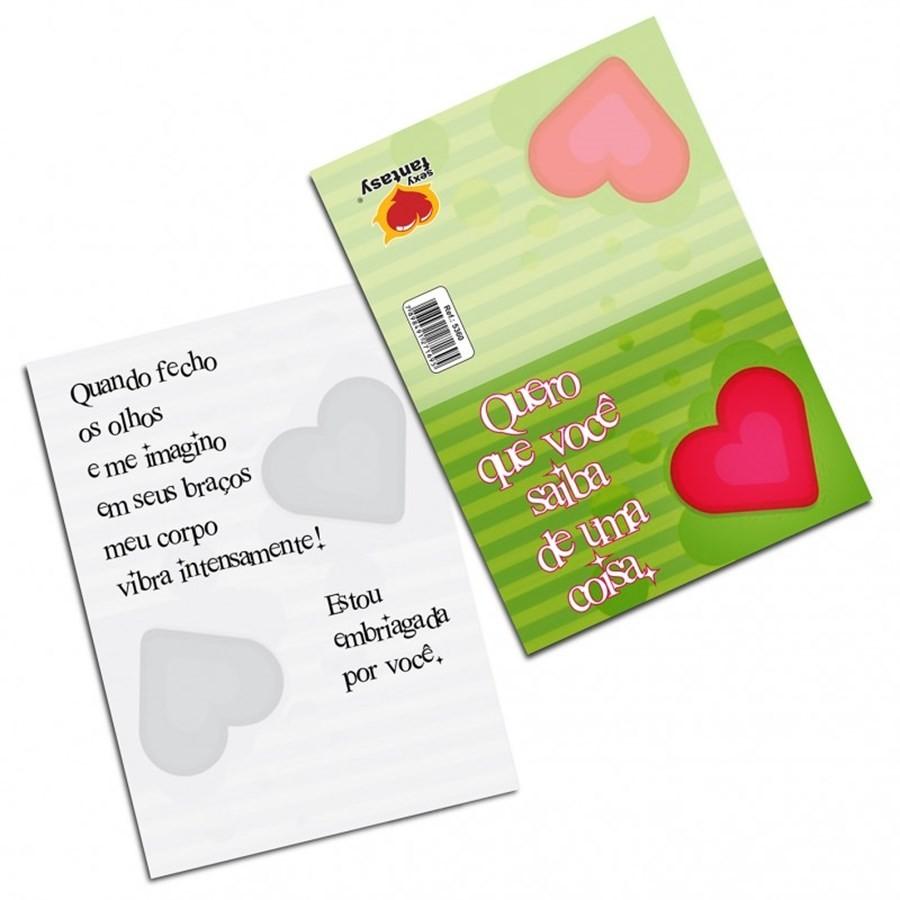 """Cartão Divertido """" Quero que você saiba de uma coisa..."""""""