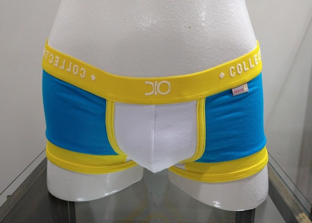 Cueca Mini Boxer Premium Dionísio GG Azul/Aamarela
